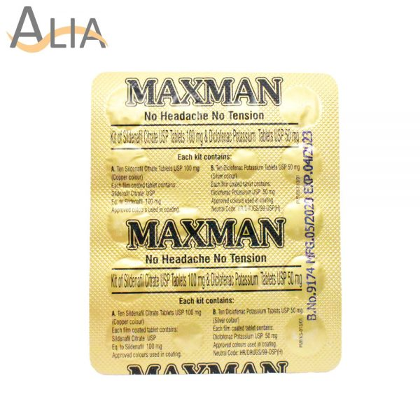 Maxman kit of sildenafil citrate tablets & tramadol tablets