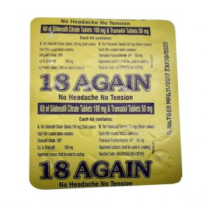 18 Again Kit of Sildenafil Citrate Tablets & Tramadol Tablets