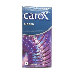 Care Ribbed Condoms 12 Pieces