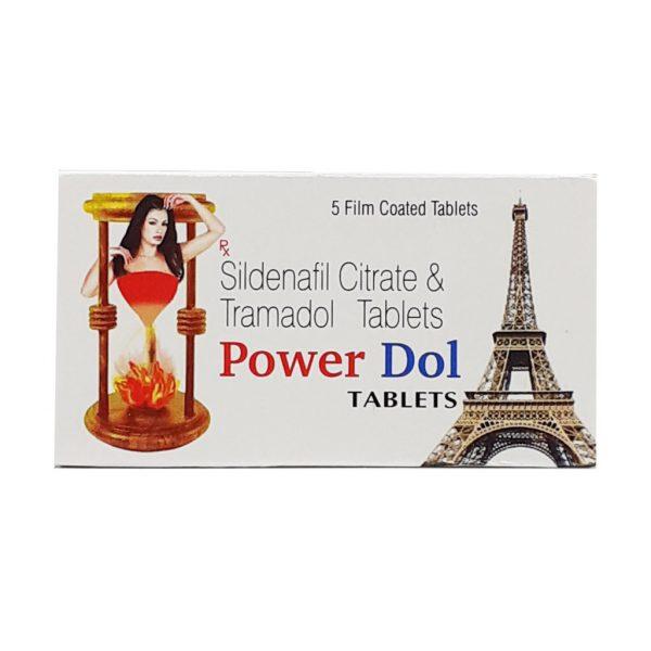 Sildenafil Citrate & Tramadol Power Dol Tablets