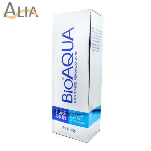 Bioaqua pure skin anti acne light print & cleanser (100g)
