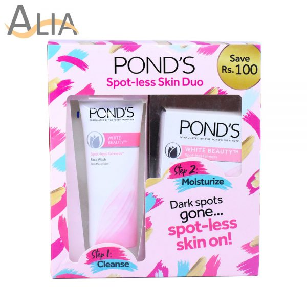 Pond's spot less skin duo face wash + beauty cream