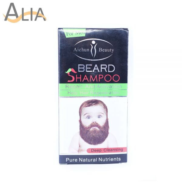 Aichun beauty deep cleansing beard shampoo with pure natural nutrients
