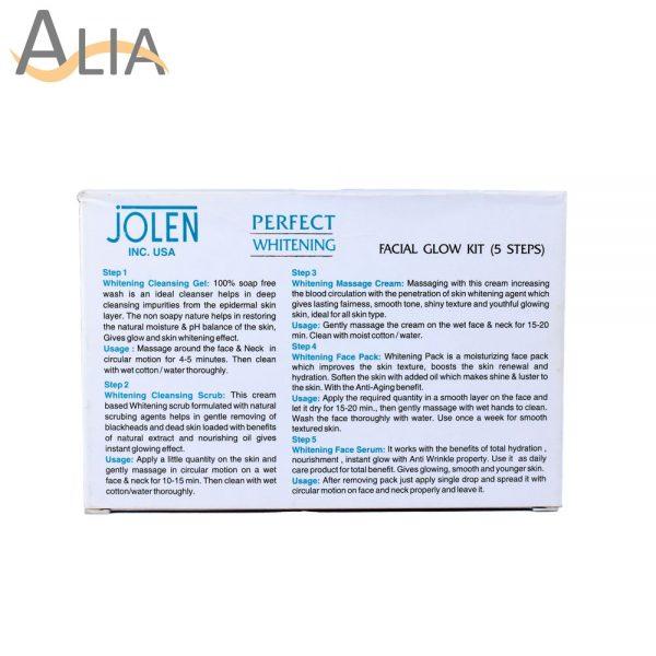 Jolen perfect whitening skin renewal formula pigmentation kit.