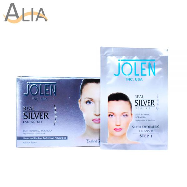 Jolen real silver facial kit skin renewal formula (all skin types) 1