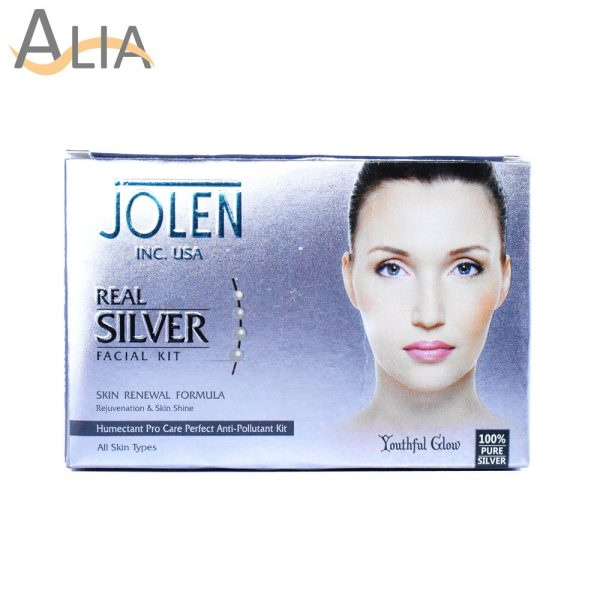 Jolen real silver facial kit skin renewal formula (all skin types)