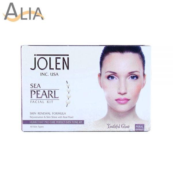 Jolen sea pearl facial kit skin renewal formula (all skin types)