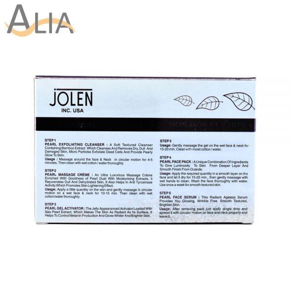Jolen sea pearl facial kit skin renewal formula (all skin types).