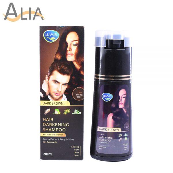 Luvvel hair darkening shampoo dark brown (200ml) 1