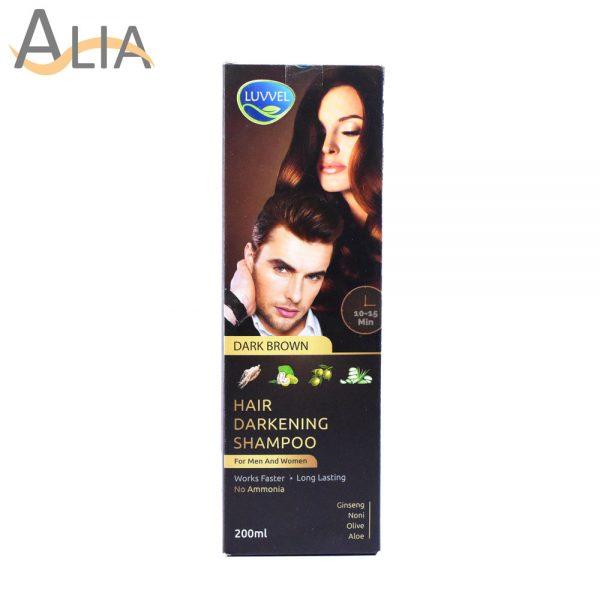 Luvvel hair darkening shampoo dark brown (200ml)