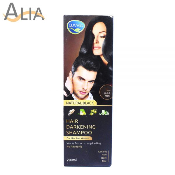 Luvvel hair darkening shampoo natural black (200ml)