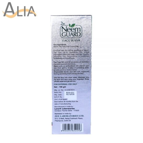 Neem guard face wash with neem extract