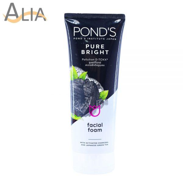 Ponds pure bright pollution detox facial foam (100g)