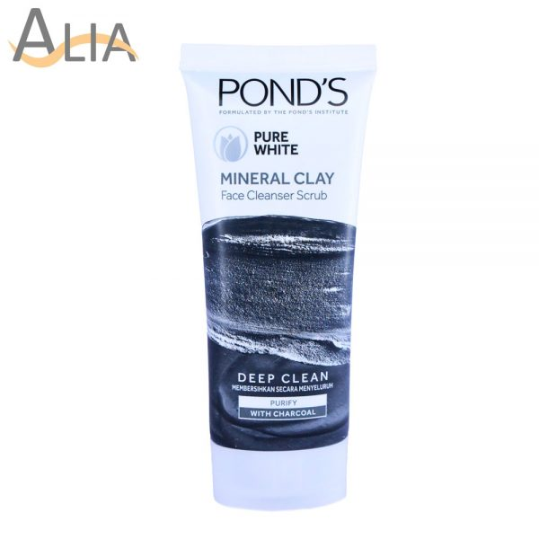 Pond's pure white mineral clay face cleanser scrub, 90g