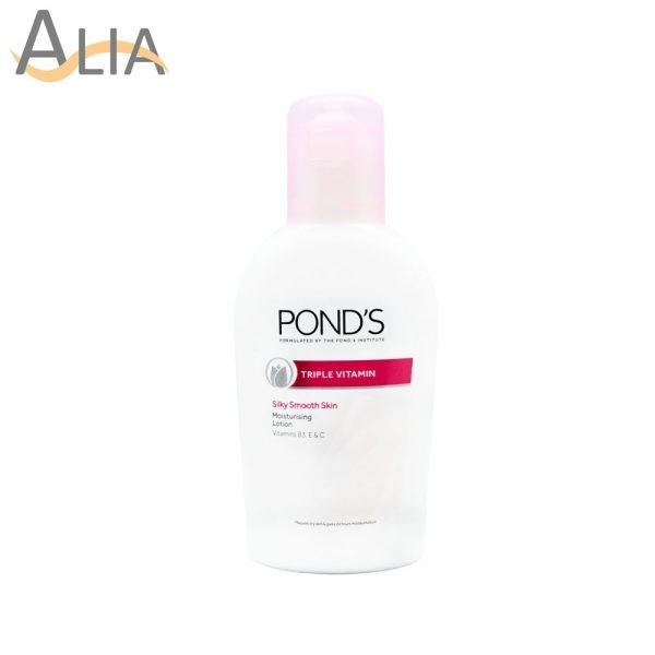 Ponds triple vitamin silky smooth skin moisturising lotion (50ml)