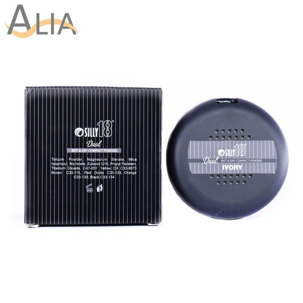 Silly18 dual wet & dry compact powder (ivory) 1