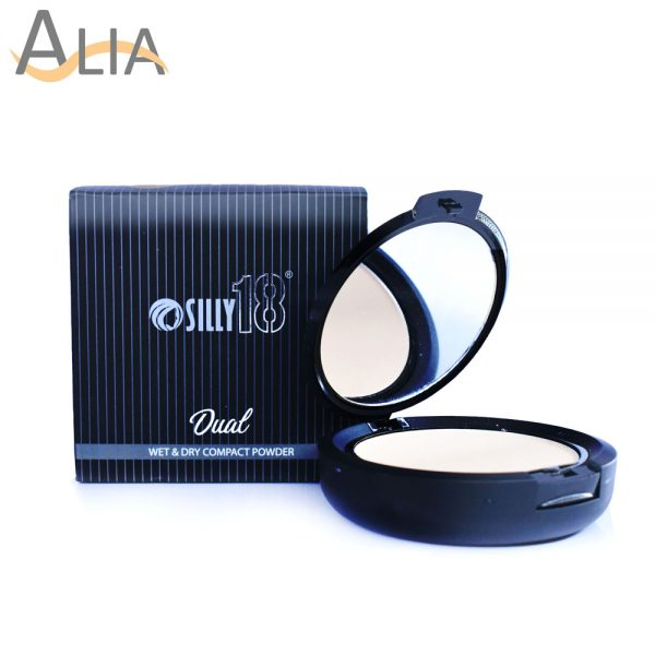 Silly18 dual wet & dry compact powder (ivory)