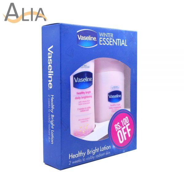 Vaseline winter essential healthy bright lotion 1