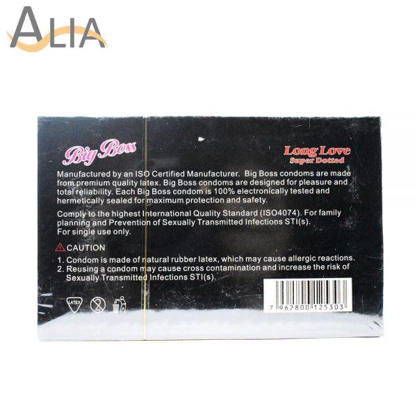 Big boss long love super dotted condoms (12 pcs).