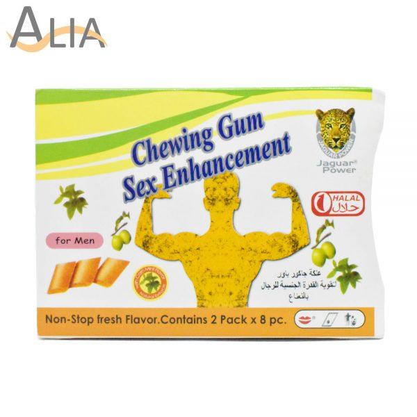 Chewing gum sex enhancement for men