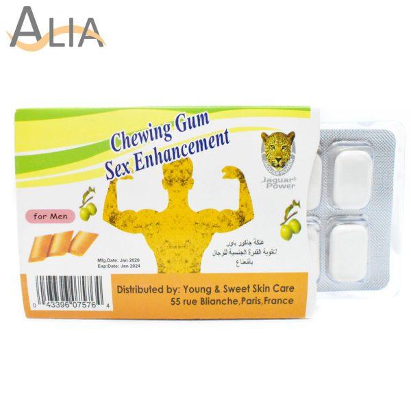 Chewing gum sex enhancement for men.