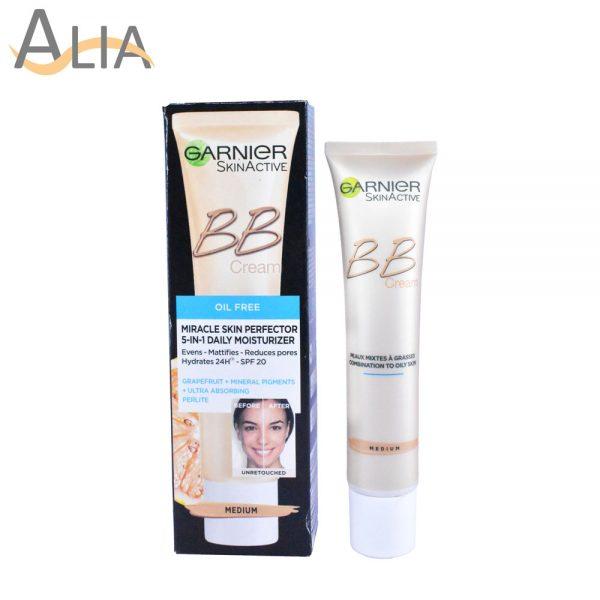 Garnier skinactive bb cream miracle skin perfector 5 in 1 daily moisturizer medium (40ml)