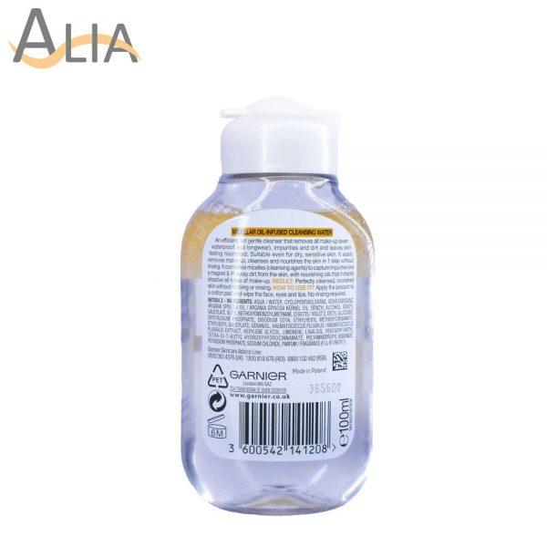 Garnier skinactive micellar oil infused cleansing water (100ml) 1