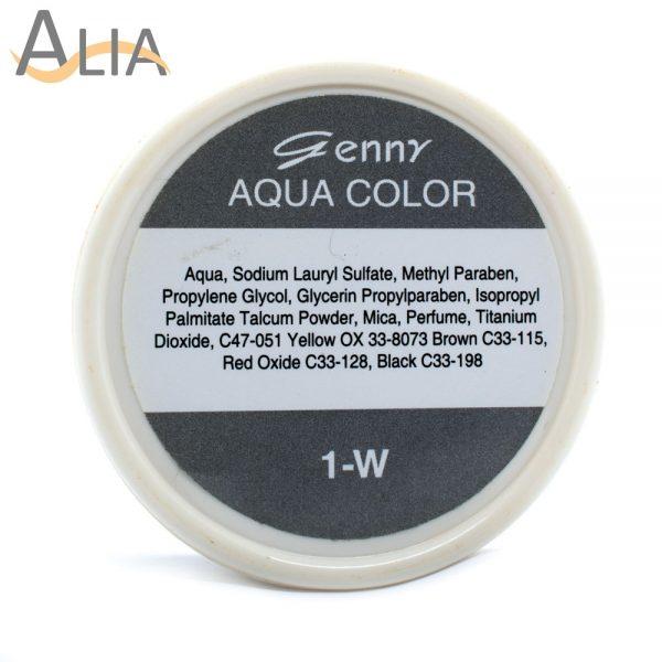 Genny aqua face language color 1 w.