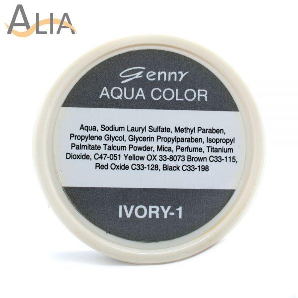 Genny aqua face language color ivory 1.