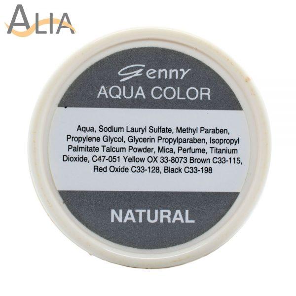 Genny aqua face language color natural.