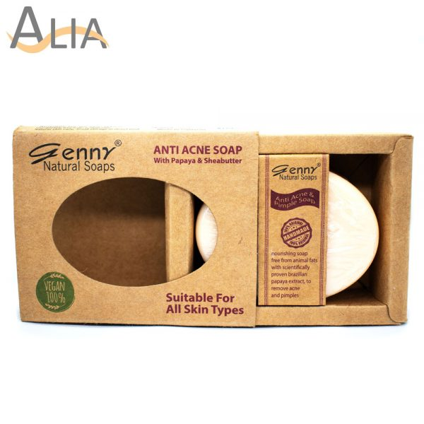 Genny natural anti acne soap with papaya & sheabutter