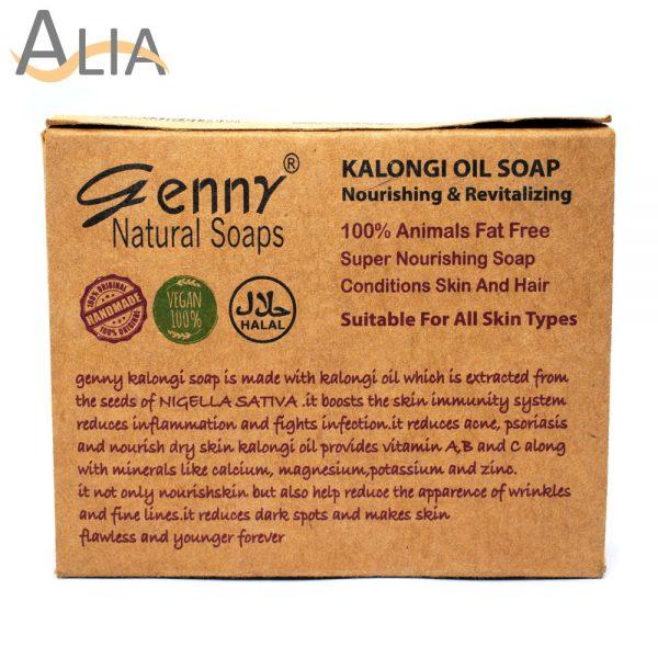 Genny natural kalongi oil soap nourishing & revializing.
