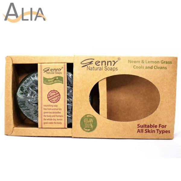 Genny natural neem & lemon grass soap for all skin types