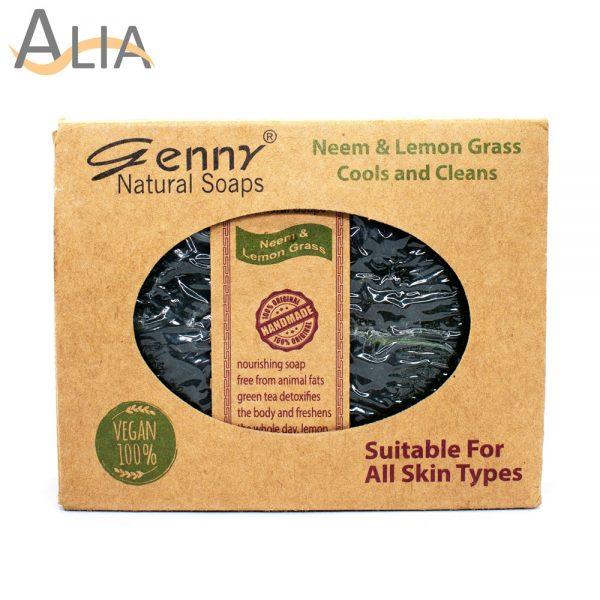 Genny natural neem & lemon grass soap for all skin types.