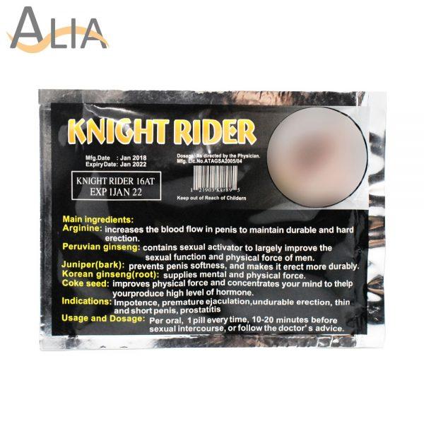Knight rider longer, thicker, stronger 4 tablets.