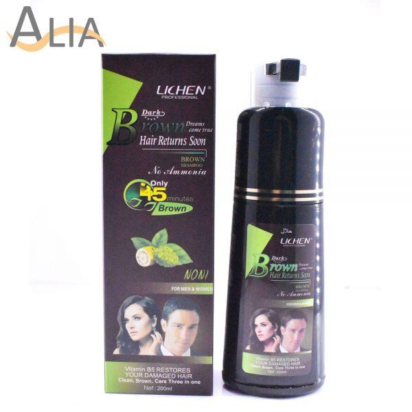 Lichen professional dark brown shampoo for men & women (200ml)