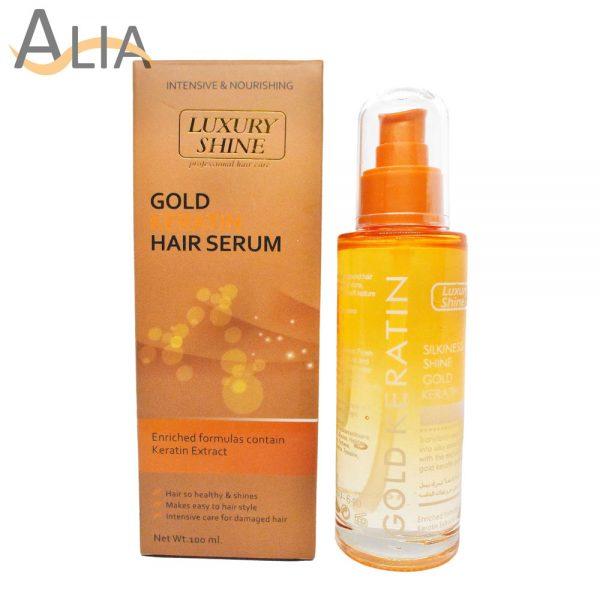 Luxury shine gold keratin hair serum (100ml)