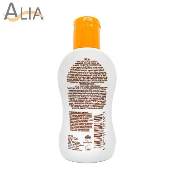 Malibu 30 spf high protection lotion (100ml) 1