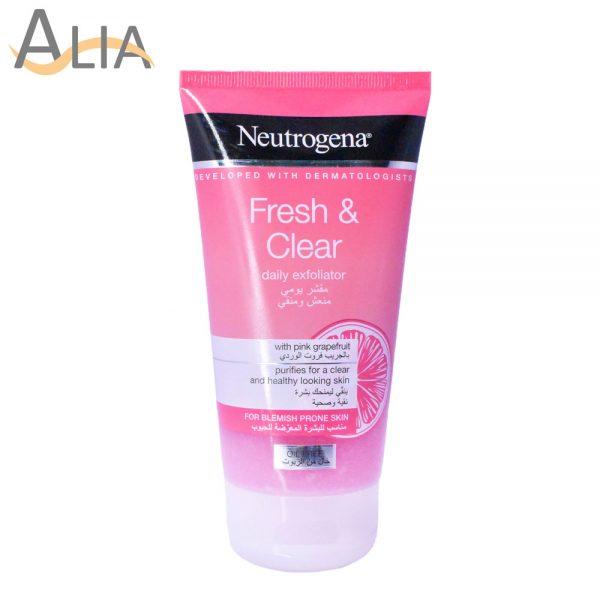 Neutrogena fresh & clear daily exfoliator with grapefruit (150ml)