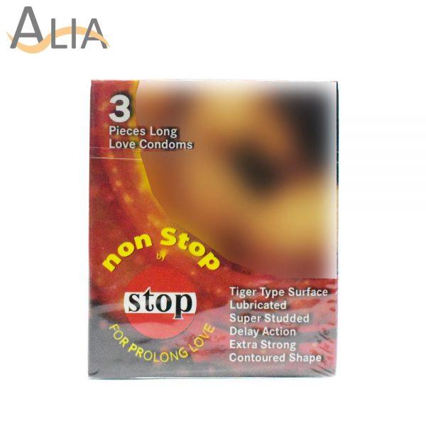 Non stop for prolong love condoms 3 pieces