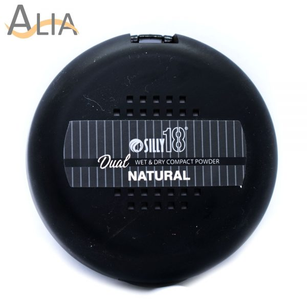 Silly 18 dual cake wet & dry compact powder color natural.