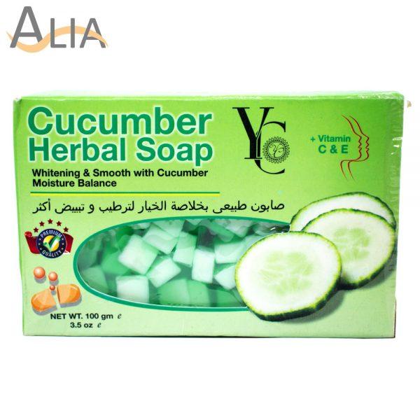Yc cucumber herbal soap whitening & smooth moisture 100gm