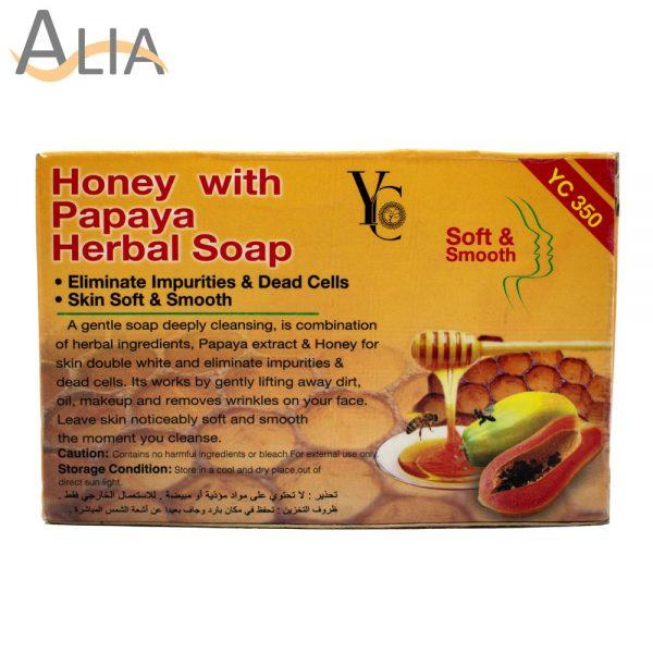Yc honey with papaya herbal soap .