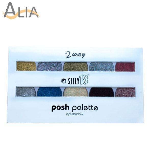 Silly 18 posh palette glitter eye shadow 2 way (02)