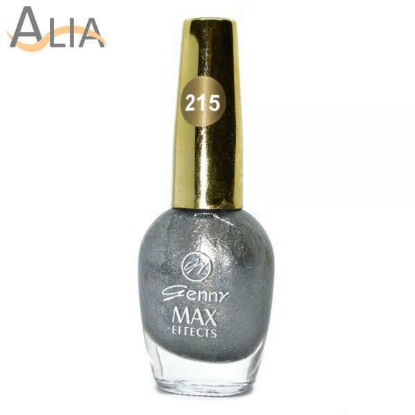 Genny nail polish (215) silver color