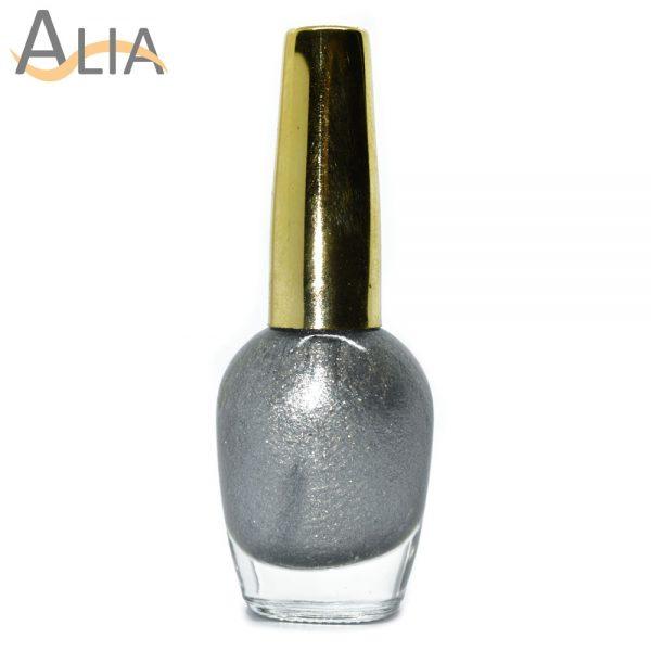 Genny nail polish (215) silver color.