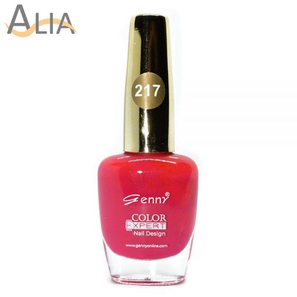 Genny nail polish (217) hot pink color