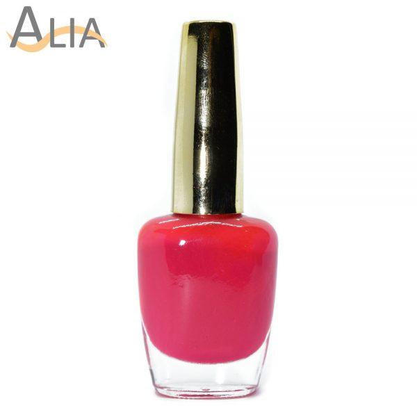 Genny nail polish (217) hot pink color.