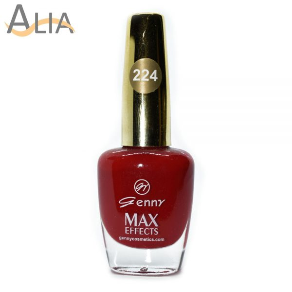 Genny nail polish (224) pure red color