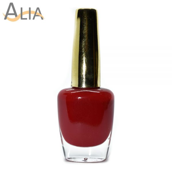 Genny nail polish (224) pure red color.